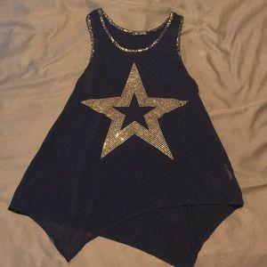 Blue star blouse